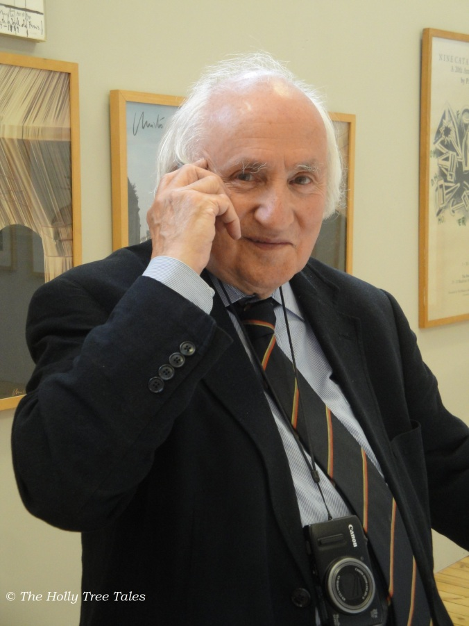 Richard Demarco, CBE - in conversation via modern technology, with camera always at the ready - August 2013