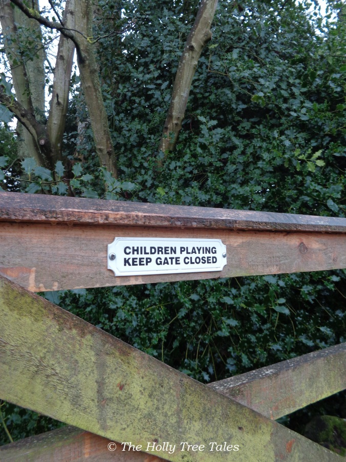 Children playing. Keep gate closed.
