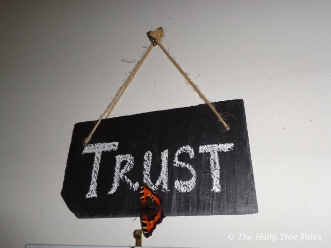 DSC00702 - THTT signed. Butterfly. Trust. Slate Sign. (c) www.TheHollyTreeTales.com