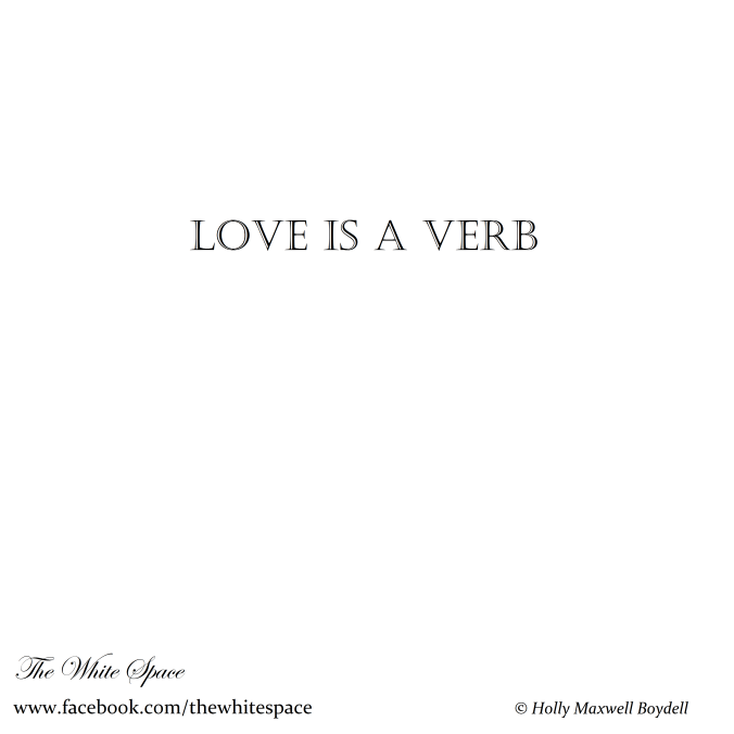Square Page - blank - TWS + hmb signed - LOVE IS A VERB - 30 January 2016