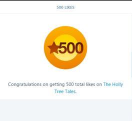 500 Likes on THTT - notification - snipped - 8 October 2017