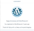 Capture - Happy 3rd Anniversary with WordPress - 1 January 2018