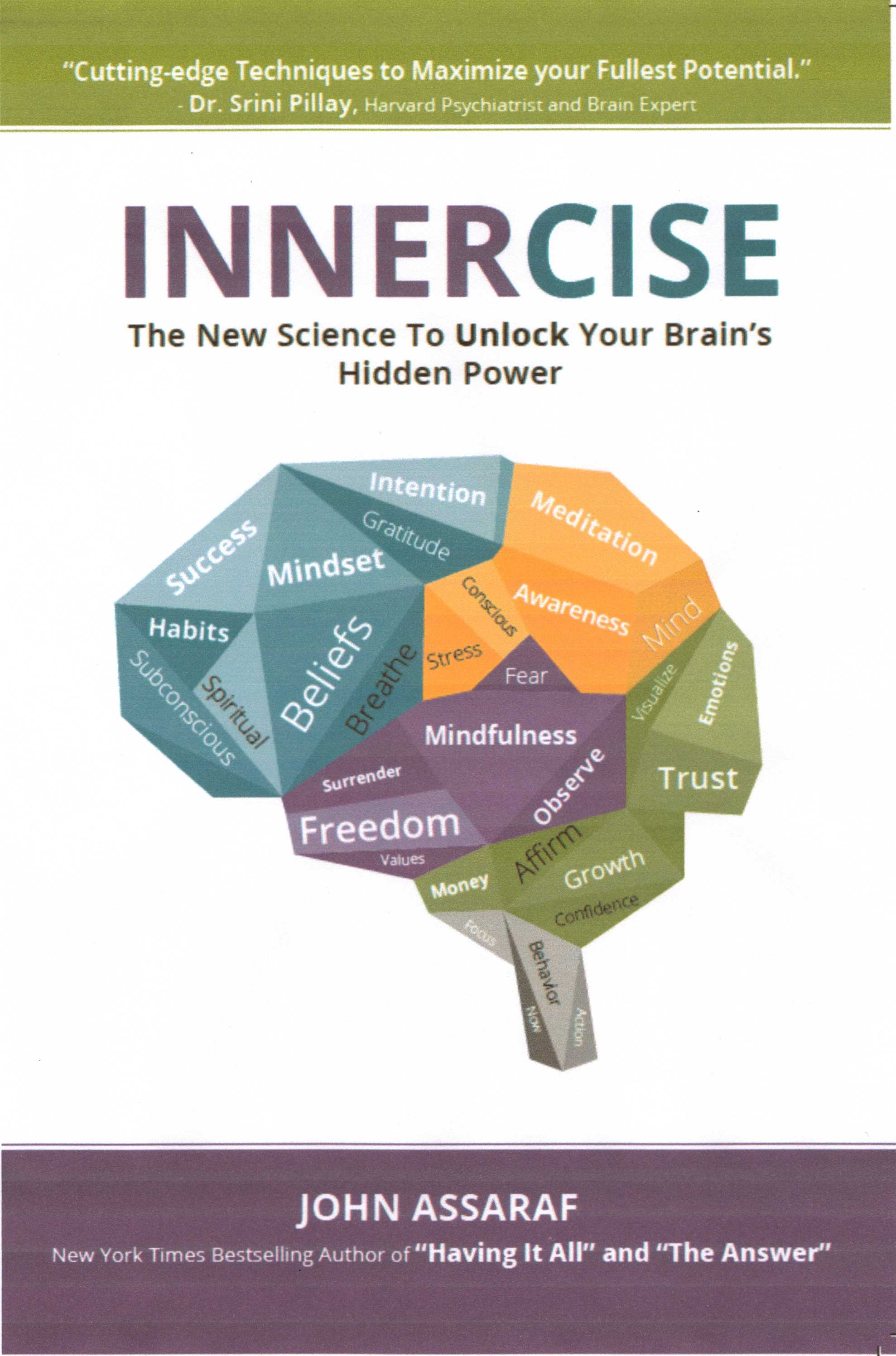 Innercise Book cover, scanned from a photocopy of sample book pages, prelaunch. September 2018
