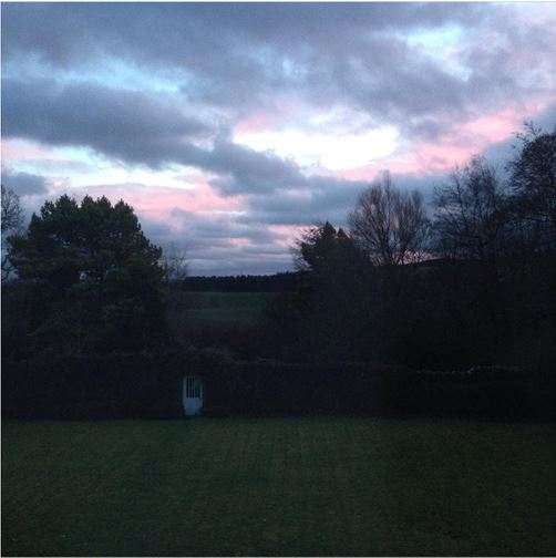 image - sunset - berwickshire - where the light comes in - holly mmb