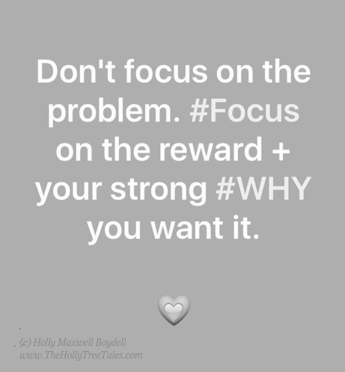 Focus On Your Why. Focus. Quote. WHY - (c) Holly M Maxwell Boydell  www.TheHollyTreeTales.com